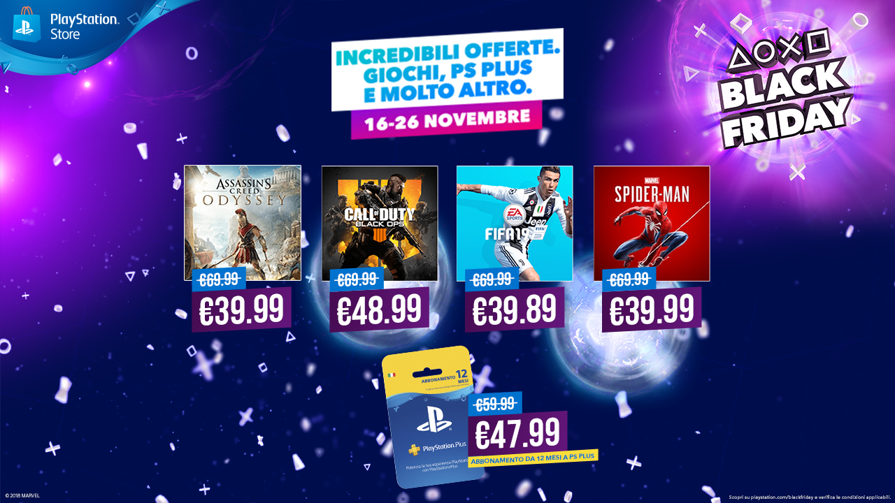 PS4: al via gli Sconti del Black Friday su PlayStation Store