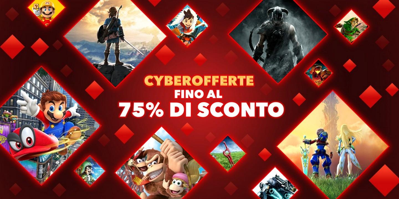Nintendo Switch: al via le Cyberofferte dell'eShop per il Black Friday
