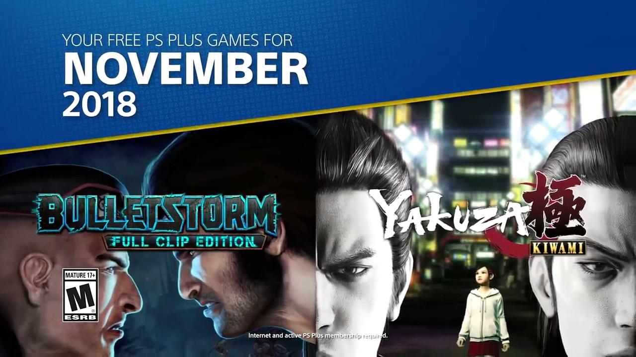 PlayStation Plus: Bulletstorm e Yakuza Kiwami tra i giochi gratis di Novembre
