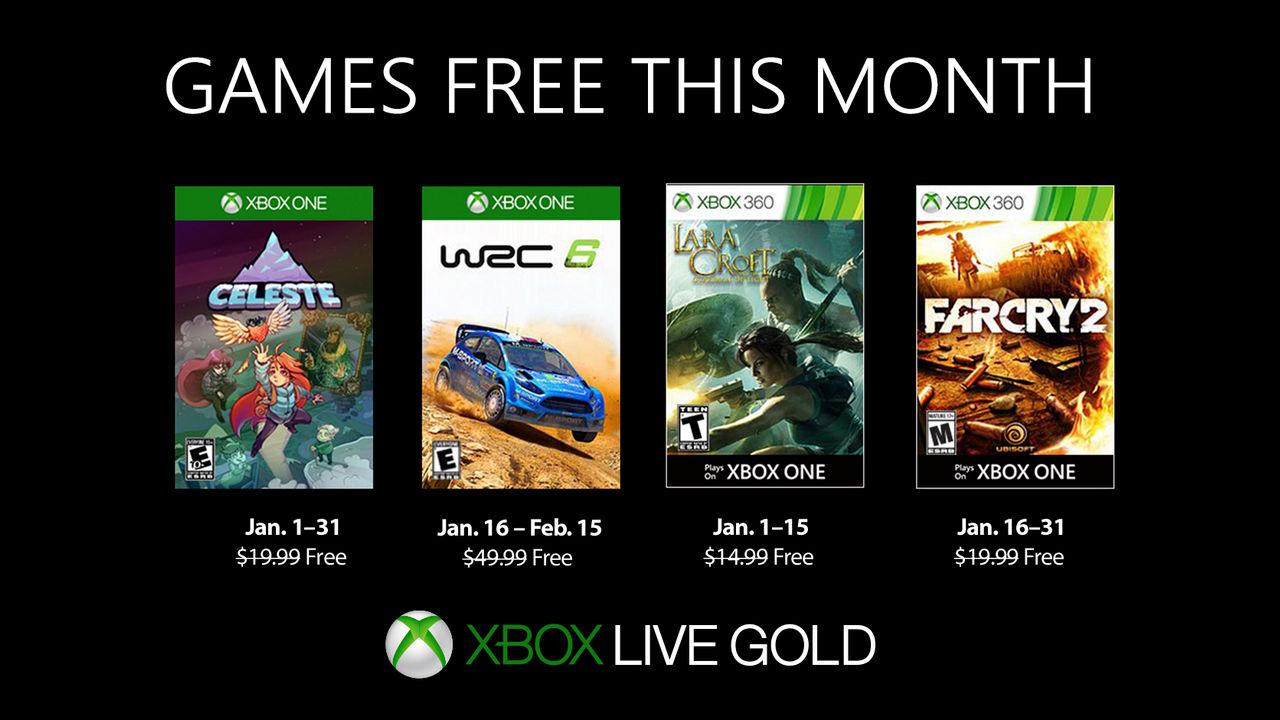 Xbox One: Microsoft annuncia i Games With Gold di gennaio