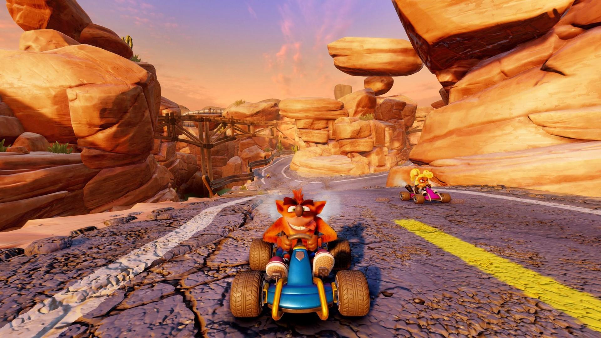 Crash Team Racing Nitro-Fueled: nuove immagini dal tracciato Canyon