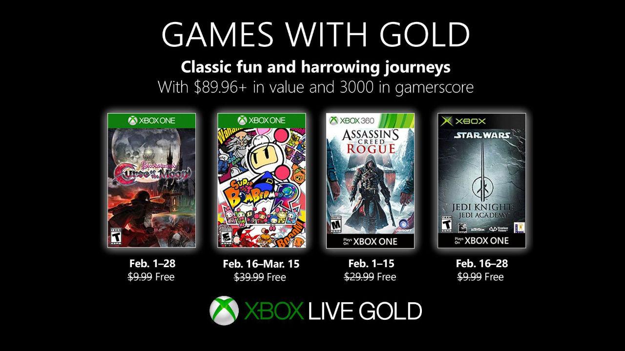 Annunciati i giochi Xbox Games With Gold di Febbraio