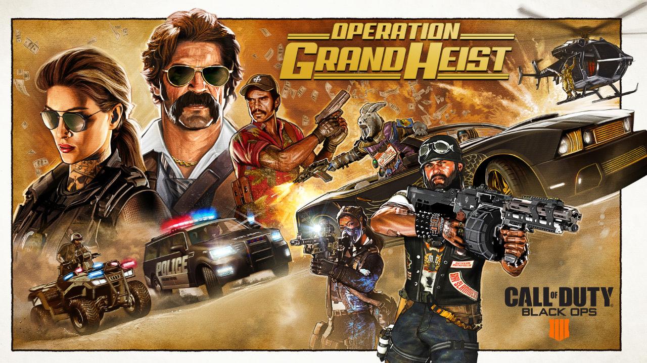 Call of Duty: Black Ops 4 – ecco il video di annuncio di Operation Grand Heist
