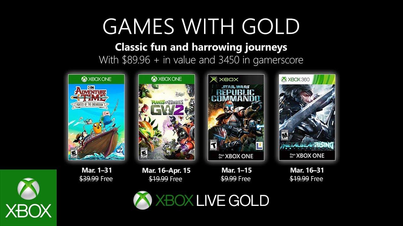 Microsoft svela i giochi Xbox gratuiti dei Games With Gold di Marzo