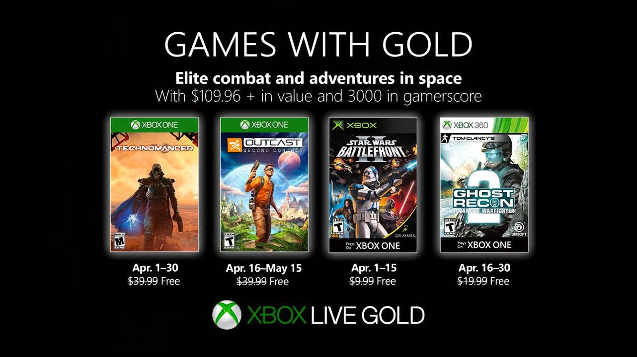 Xbox Games With Gold: ecco i giochi gratis di Aprile 2019