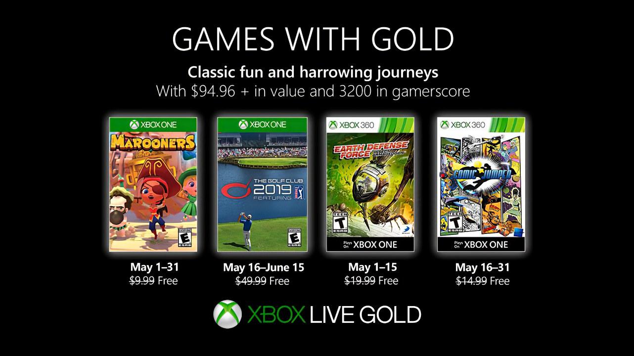 Xbox Games With Gold: svelati i giochi gratis di Maggio 2019