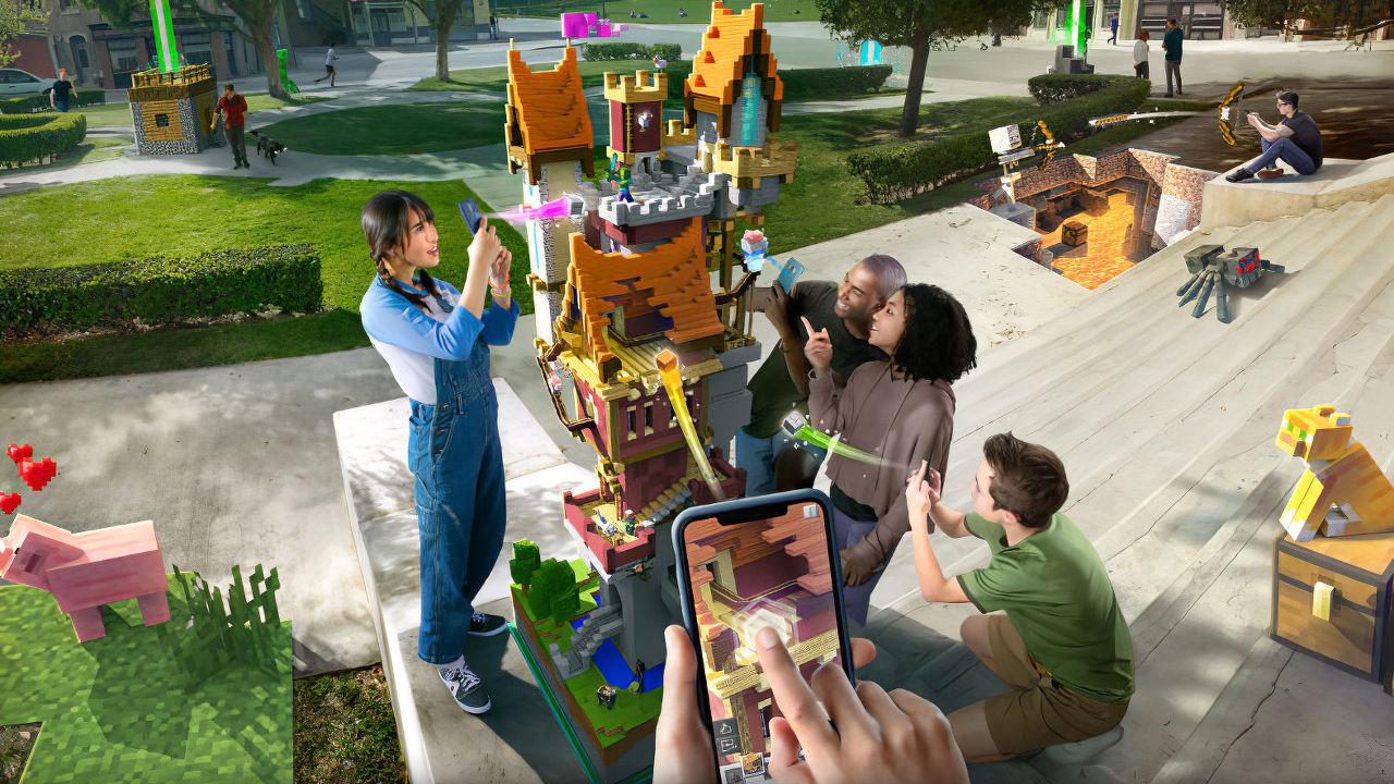 Minecraft Earth: Mojang annuncia il gioco mobile in realtà aumentata