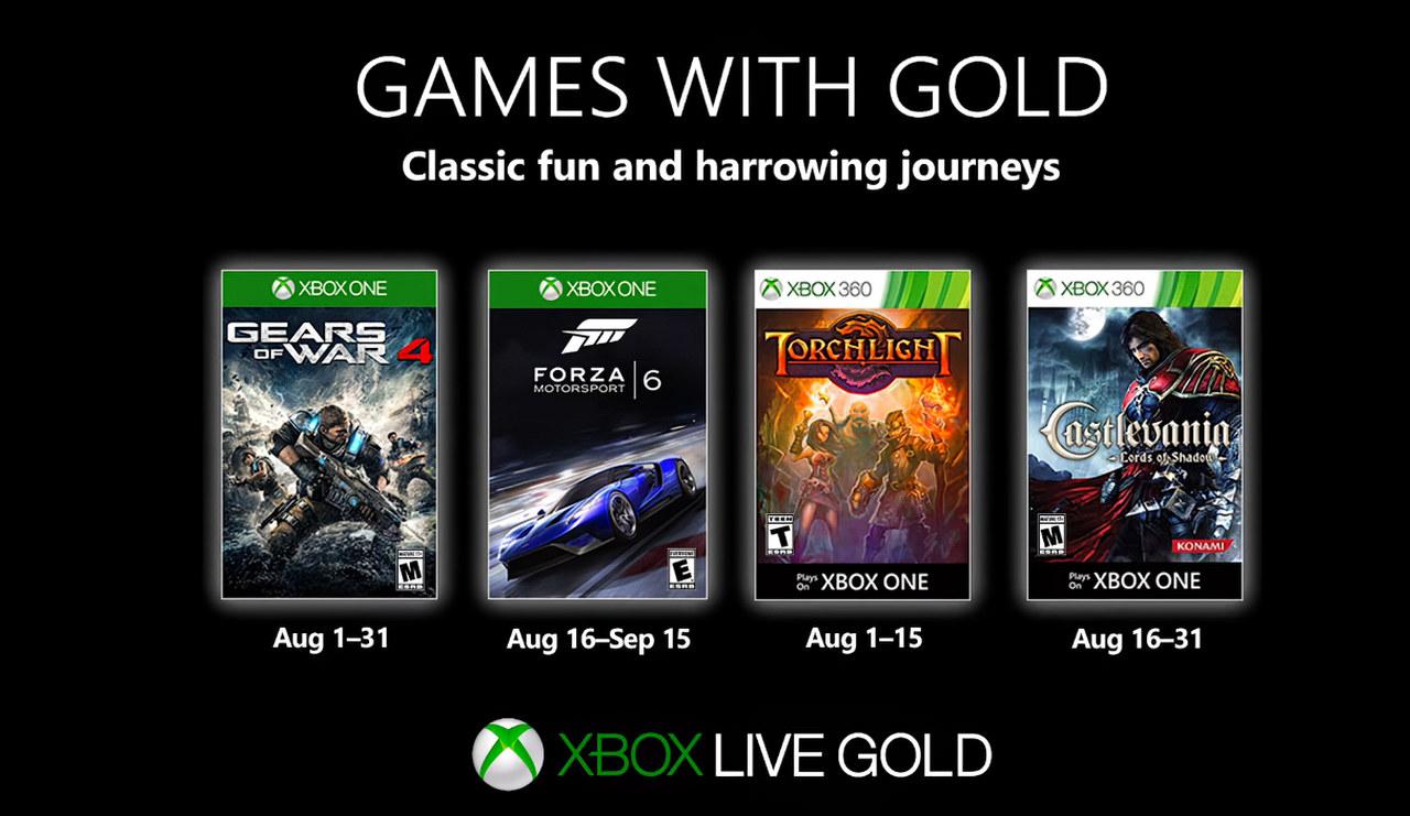 Xbox Games With Gold: annunciati i giochi gratis di Agosto 2019